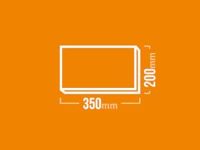 Schamotteplatte 350x200mm
