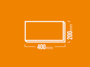 Schamotteplatte 400x200mm