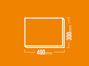 Schamotteplatte 400x300mm