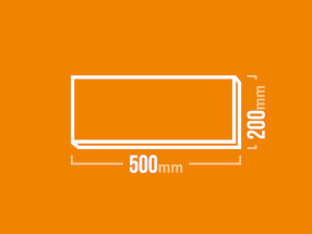 Schamotteplatte 500x200mm