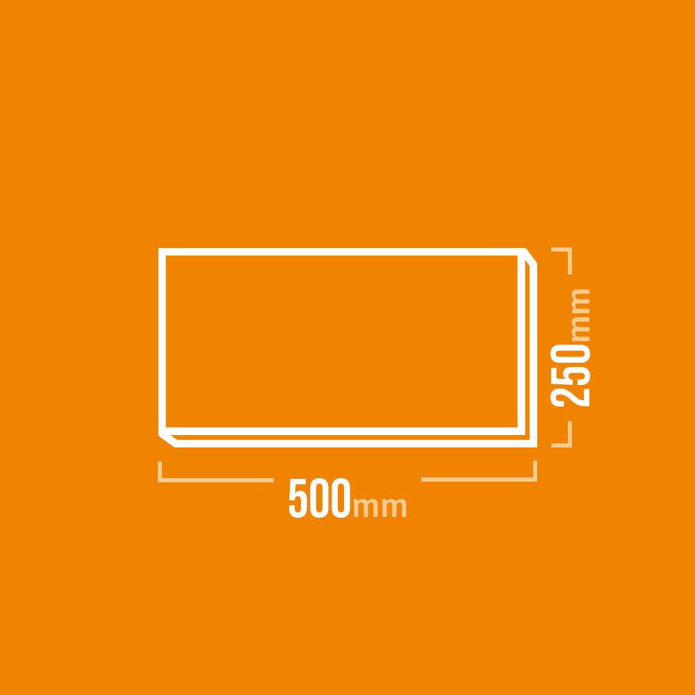 Schamotteplatte 500x250mm