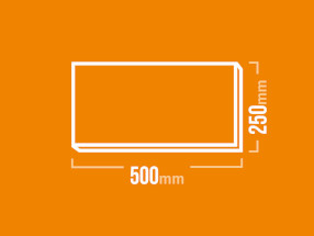 Schamotteplatte 500x250 mm