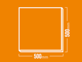 Schamotteplatte 500x500mm