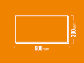 Schamotteplatte 600x300