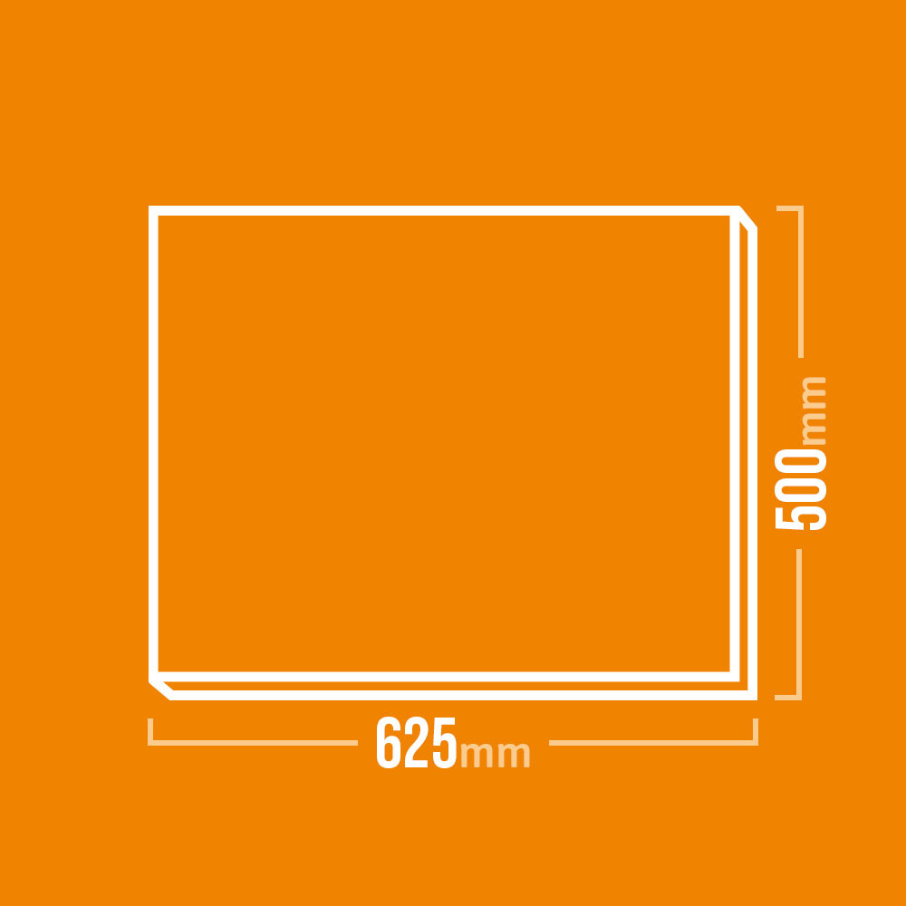 Schamotteplatte 600x500mm