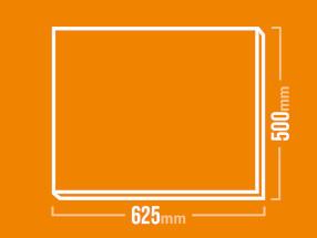 Schamotteplatte 625x500