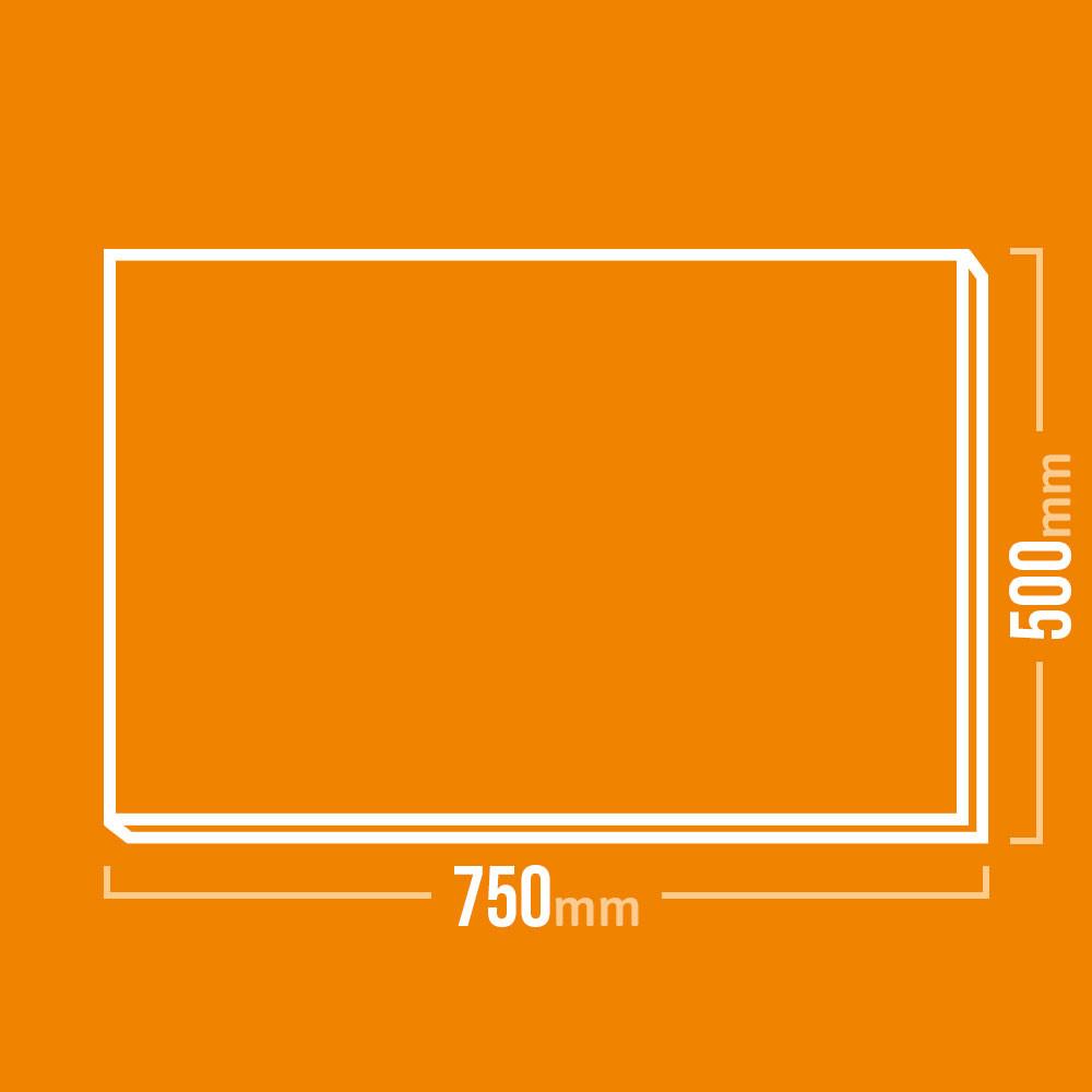 Schamotteplatte 750x500mm