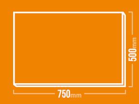 Schamotteplatte 750x500
