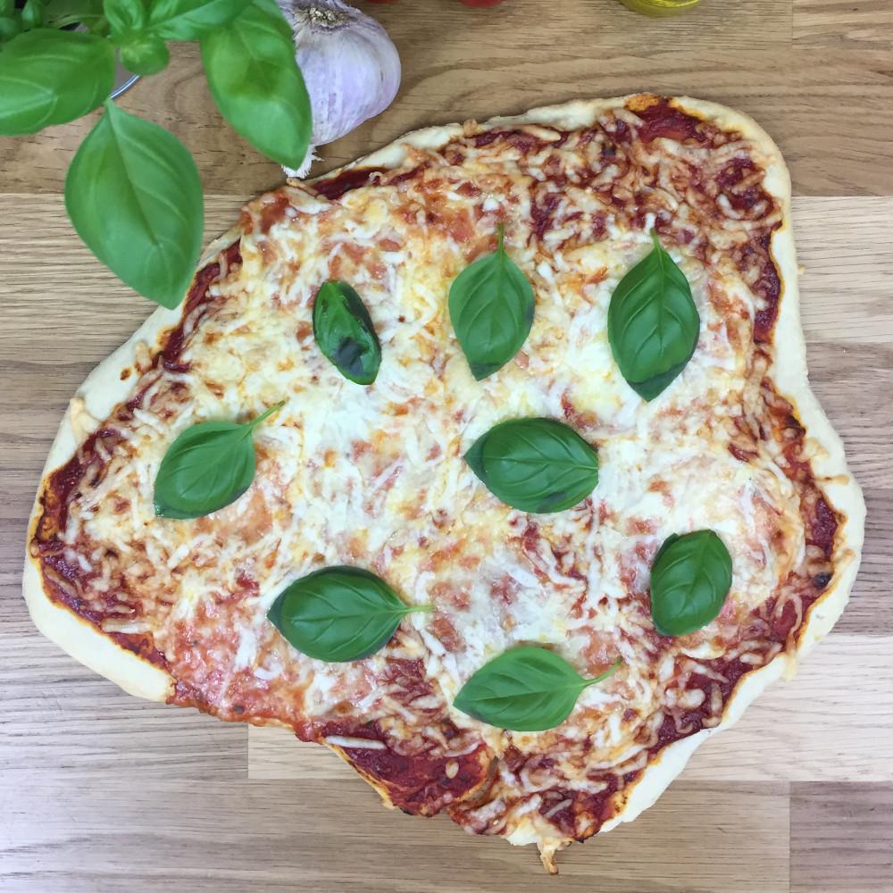 Rezept für Pizzastein: Pizza Margherita