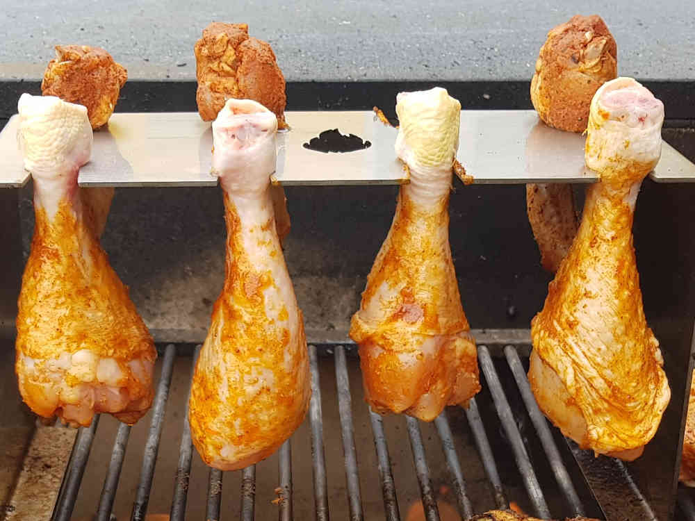 Testbericht: Hähnchen-Schenkelhalter für den Grill