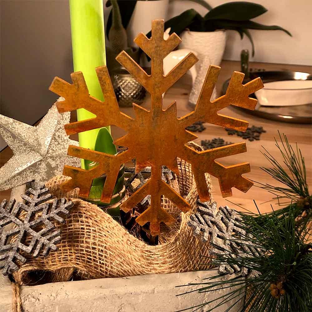 Weihnachtsdeko Trend Schneeflocke