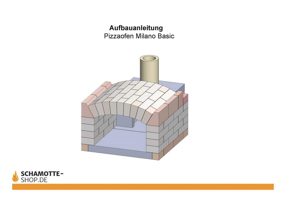 Aufbauanleitung Pizzaofen Bausatz Milano Basic