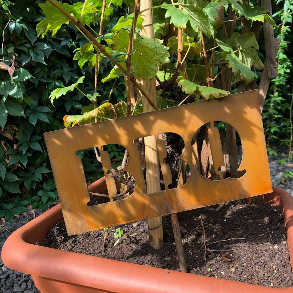 Gartenfigur Edelrost BBQ