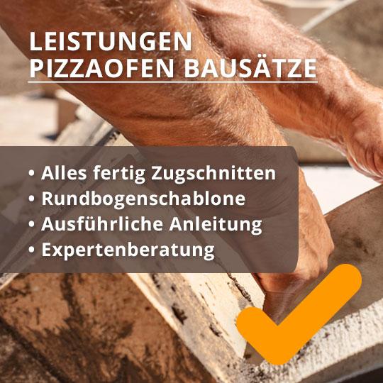 Leistungen Pizzaofen Bausatz