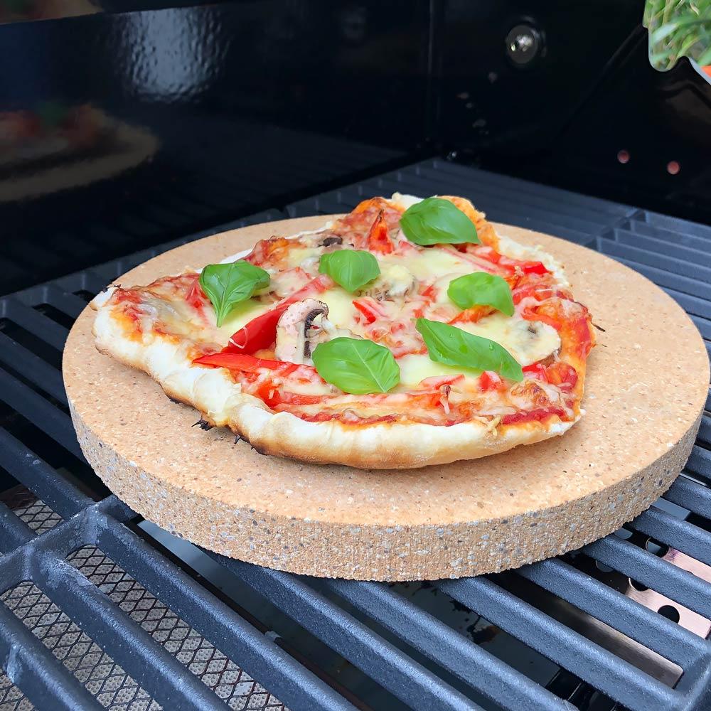 Pizzastein Grill rund