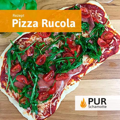 Pizzastein Pizza Rucola