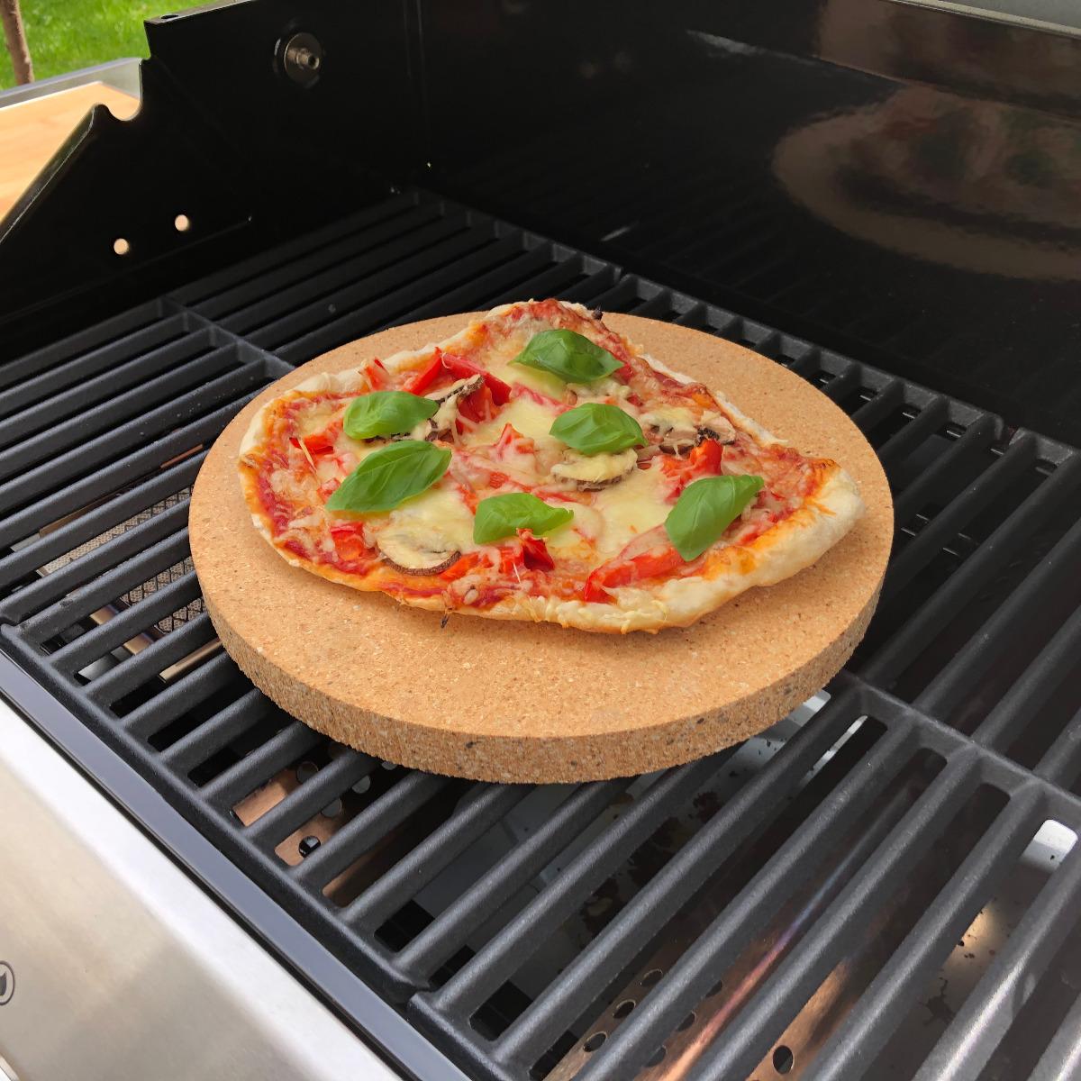Pizzastein rund Schamotte